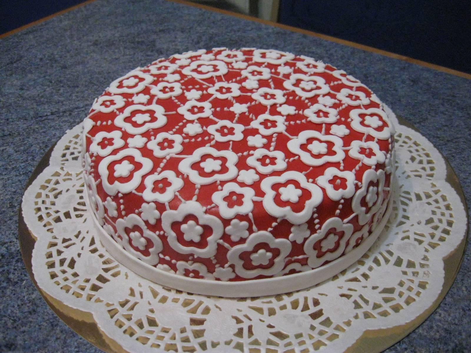 Кружево на торте в домашних условиях