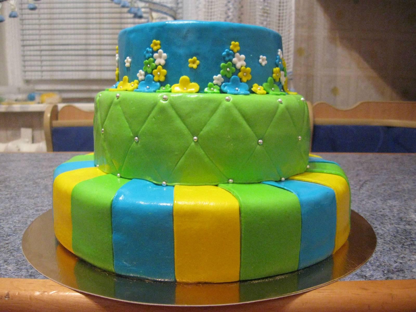 Трехэтажный торт своими руками на день рождения 76